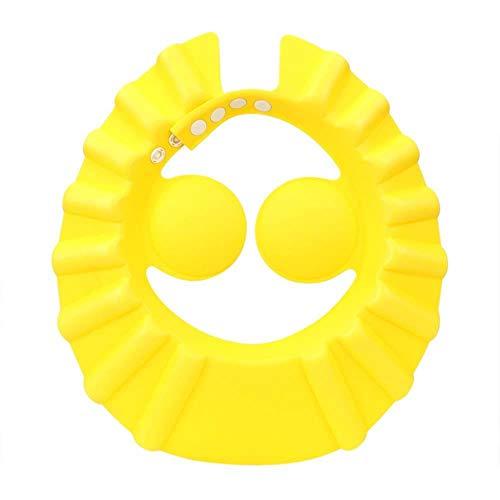 Bonnets de douche de bébé Shampooing Cap Wash Cheveux Enfants Visière de bain Chapeaux Bouclier réglable Étanche Protection d'oreille Oeil Enfants Chapeaux Infantile # 20, Jaune