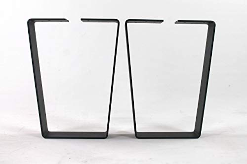 HD Wide Top Trapezoid Steel Bench Legs-Choose Your Height and Width