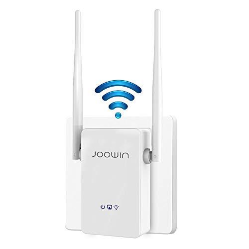 JOOWIN Ripetitore WiFi Wireless, velocità Single Band 300Mbps, 2.4GHz Amplificatore Segnale Wi-Fi Porta LAN, 2 Antenne, WPS, modalità Repeater Router AP, Facile da Installare, Bianco