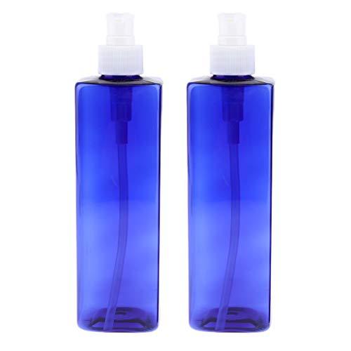 Bonarty 2pcs Flacon Pompe Vide 500 Ml, Distributeurs de Liquide Pompe à Lotion en Plastique Vide Bouteille de Shampooing PET - #2Pompe blanche