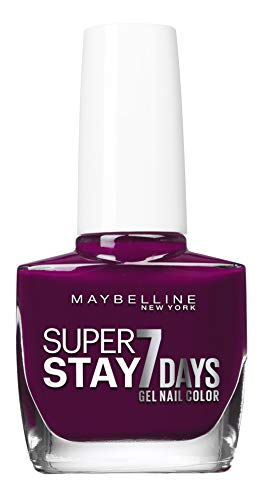 Maybelline New York – Vernis à Ongles Professionnel – Technologie Gel – Super Stay 7 Days – Teinte : Ever Burgundy (270)