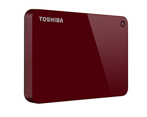 Toshiba Canvio Advance 1TB Portable External Hard Drive USB 3.0, Red (HDTC910XR3AA)