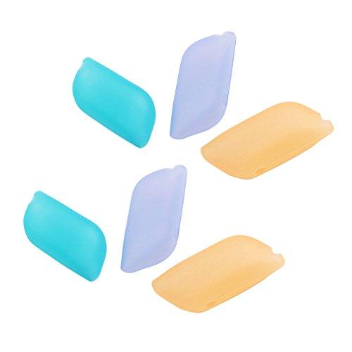 Toygogo - Juego de 6 fundas de silicona para cepillo de dientes, gran funda útil para el hogar, viajes, al aire libre y camping
