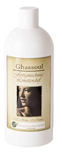 LT-NATURPRODUKTE Lavaerde/Ghassoul, Fertigmischung, 500ml - mit Limettenduft, chemiefrei, vegan, Bio-Qualität, gebrauchsfertig. Tonerde Wascherde Tonpulver Rhassoul Shampoo. Anti Schuppen