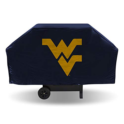 Rico Industries NCAA Grillabdeckung aus Vinyl, Unisex-Erwachsene, NCAA West Virginia Mountaineers Vinyl Grill Cover, West Virginia Mountaineers, One Size Fits All