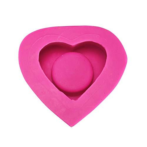 QueenHome - Molde de Silicona en Forma de corazón para pastelería, Chocolate, pastelería, Hecho a Mano, 10,59,94,8 cm