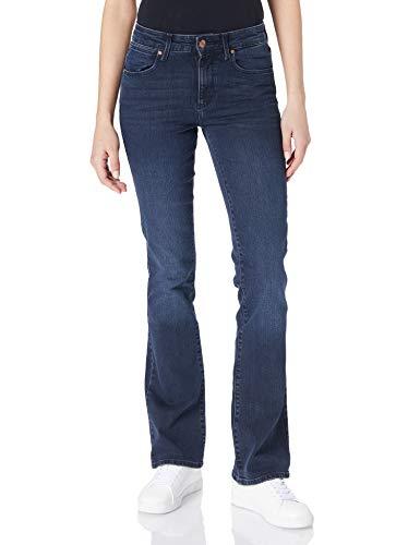 Wrangler Bootcut Jeans, Sci Blu, 27W x 30L Donna