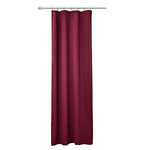 WOLTU #489, Vorhang Gardinen Blickdicht mit kräuselband für schiene, Leichter & weicher Verdunklungsvorhang für Wohnzimmer Schlafzimmer Tür, 135x225 cm, Brombeere, (1 Stück)