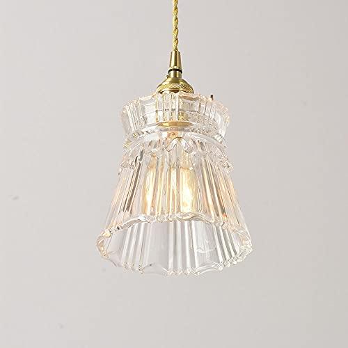 Ksovv Mini Mini Luces Colgantes Colgantes lámparas Colgantes Cristal CORRECTAR Single CEILIDANTE FIXTO  Comedor Cocina Instalación Instalación Loft Chandelier E26 / E27