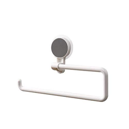 KANJJ-YU Papel toalleros Copa de succión del Estante, Papel Toalla de Cocina del Estante Libre de perforación Colgar de la Pared Soporte for Papel higiénico Titulares de Tejidos
