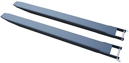 Gabelverlängerung für Stapler Frontlader 1 Paar 180cm Zinkenverlängerung Schwarz