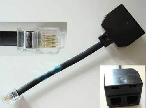 Soytich Y Verteiler Telefon Adapter RJ11 Stecker 2X Kupplung RJ11