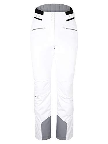 Ziener Damen TILLA Ski Snowboard-Hose   Atmungsaktiv, Wasserdicht, White, 42