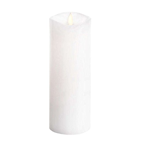 Luminara Flameless Candle: 360 Degree Top Unscented Moving Flame Candle With Timer (8' White)