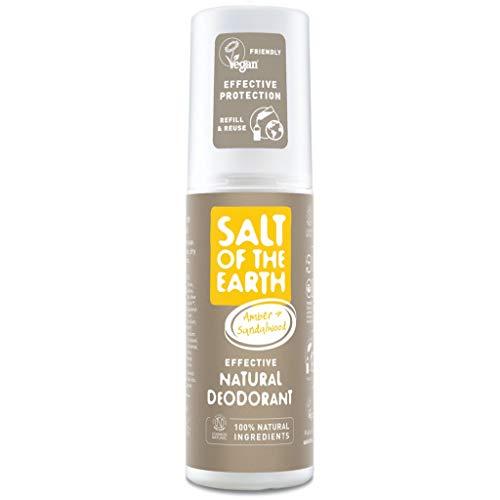 Salt Of the Earth Deodorant, Bernstein und Sandelholz, 100 ml