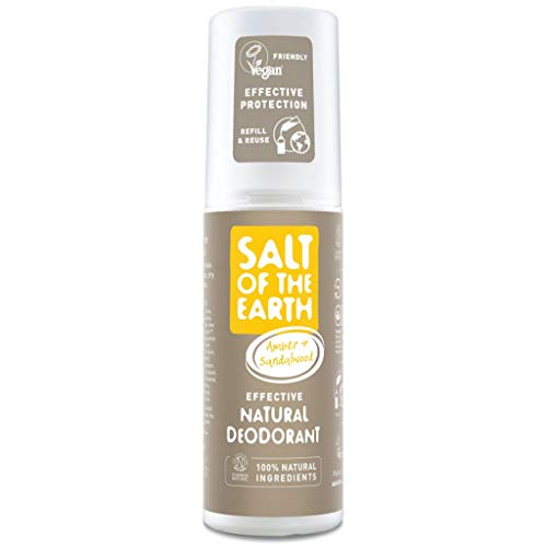 Salt Of the Earth Deodorant, Bernstein und Sandelholz, 100 ml