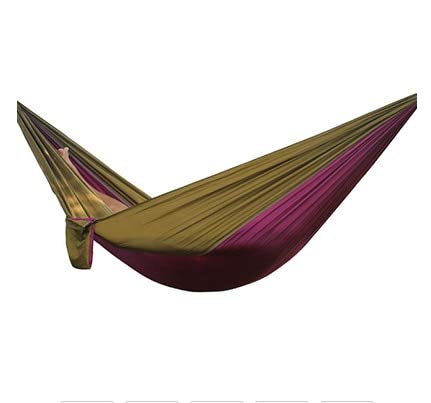 Hammock Hiking Camping 270 * 140cm Portable Nylon Safety Parachute Hanging Chair Swing Outdoor Double Leisure Russian Federation V