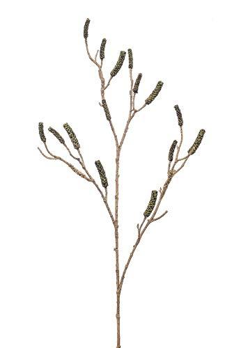 artplants.de Set 6 x Kunst Zylinderputzer Zweig DURERO mit Früchten, grün, 120cm - Kunstzweig Callistemon - Deko Zylinderputzer