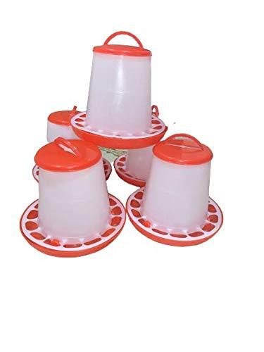 TM&W Plastic Semi Automatic Feeder and Drinker, Water System & Feeding System for All Birds- Qty= (Feeder 1.5 kg 5 pieces)