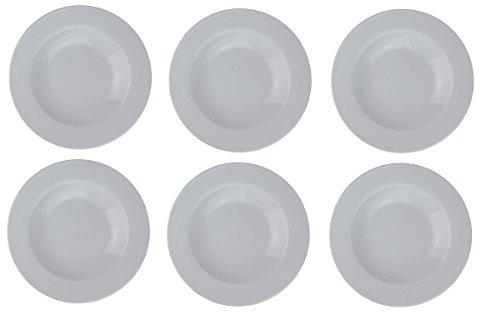 Osma Suppenteller - Porzellan - Ø22cm - klassisch weiß/rund (6 Stück)