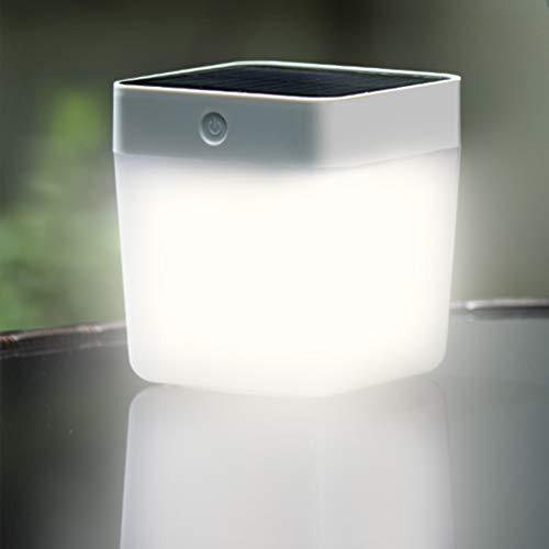 LUTEC Solarleuchte für Außen, Tragbare LED Solar Leuchte mit Dimmfunkti, 100LM 1W, Solar Aussenleuchte für Garten