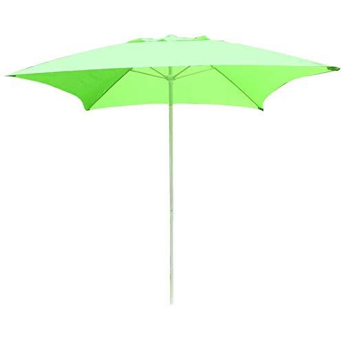 Lujo 2.0M Cuadrado Portátil Al Aire Libre Media Parasol, Dosel Paraguas Plegable...