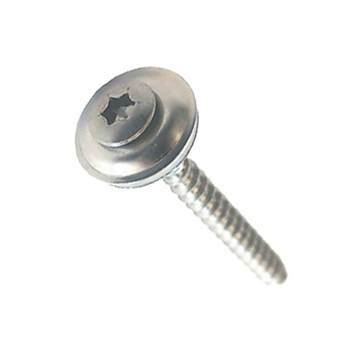 Lot de 100 boulons en acier inoxydable 4,5 x 35 mm avec joint D = 15 mm A2 TORX (005302)