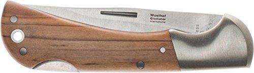 Gladiator Taschenmesser Gesamt-L. 200mm Klingen-L. 85mm rostfrei Beschalung Olivenholz