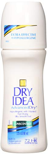 Dry Idea Anti-Perspirant Deodorant Roll-On Unscented, 3.25 Fl Oz (Pack of 3)