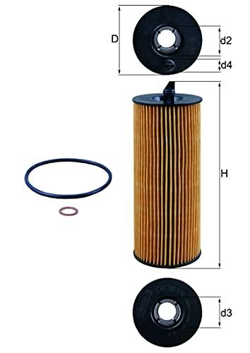 MAHLE OX 361/4D Ölfilter