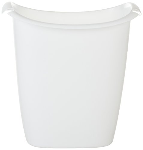 Rubbermaid FG238500WHT Recycler Wastebasket, 14-Quart, White