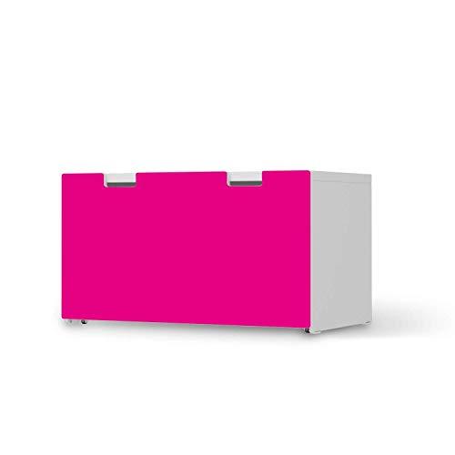 creatisto Kinder Möbeltattoo - passend für IKEA Stuva Banktruhe I Tolle Kinder-Zimmer Deko - Möbelaufkleber für Kinder- und Babyzimmer I Design: Pink Dark