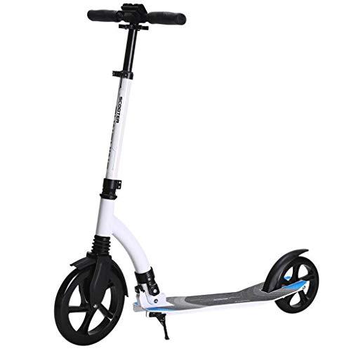 GTYMFH Scooter de pie con la Correa de Hombro del Freno de Mano no eléctricos Fácil Plegable for niños y Adultos Ultraligera Regalos de cumpleaños for Adultos, Adolescentes, niños Scooter de Ciudad