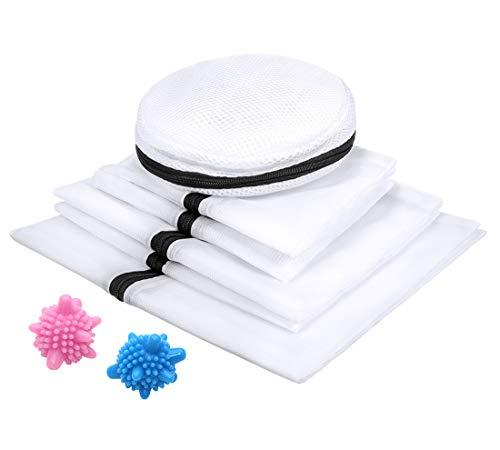 Wäschenetz für Waschmaschine, TAOPE 6 Stück Wäschenetz Wäschetasche Set Wäschebeutel Laundry Bag mit Reißverschluss für Empfindliches,Schuhe, BH, Unterwäsche,Bettwäsche,Hemden,Wash Bag +2 Waschball