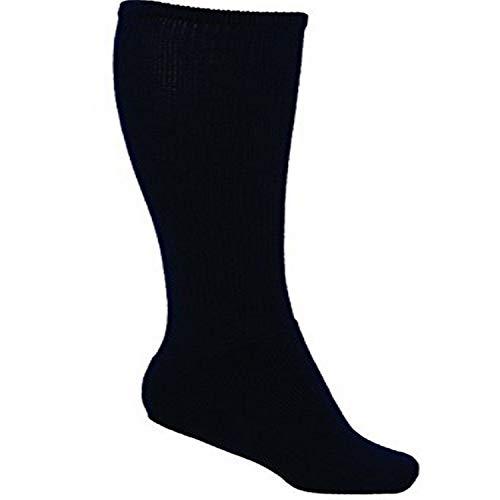 VIZARI League Soccer Tube Socks for Sport, Black, Intermediate - Compression Tube Field Hockey Socks with Ergonomic Cushioning and Support - Soccer Socks, Perfect For Football, Baseball, Rugby.