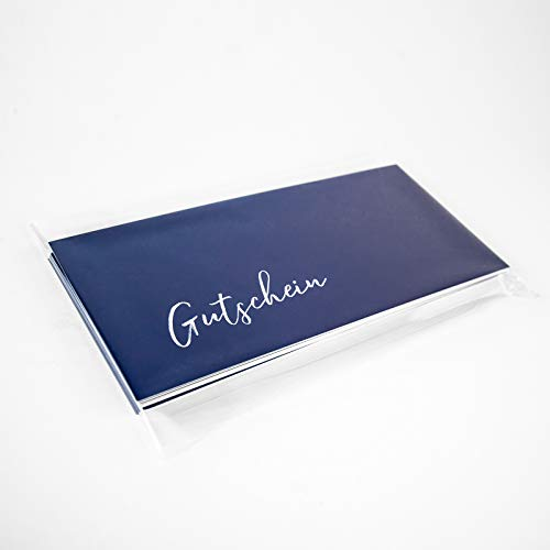 25 Stk. Gutscheinkarten, Geschenkgutschein Geburtstagsgutschein Gutschein (blau)