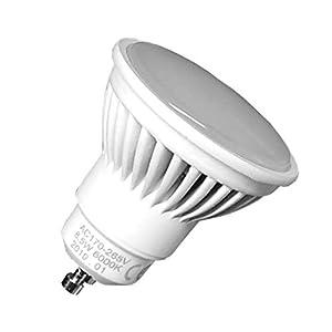 Pack 5x GU10 LED 8,5w Potentisima. Color Blanco Calido (3000K). 970 Lumenes. Unica con ángulo de 120 grados. A++