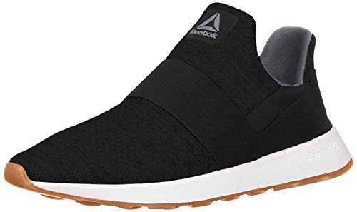 Reebok Women's Ever Road DMX Slip ON Walking Shoe, Black/Cold Grey/Chalk, 9 M US