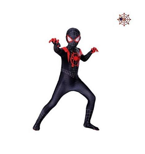 Spiderman Kostuum Volwassen Kinderen 3D Gedrukt Spiderman in De Spider Verse Miles Morales Cosplay Kostuums Spiderman Bodysuit pak 110