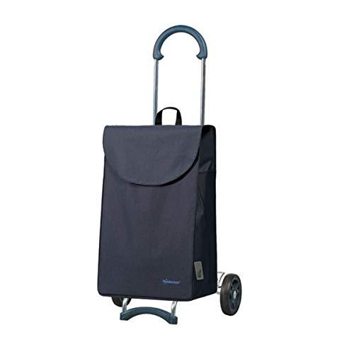 Andersen Einkaufstrolley Scala und Einkaufstasche Walker dunkelblau 40 Liter Einkaufswagen Stahlgestell