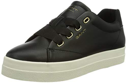 GANT Avona Sneaker, Zapatillas Mujer, Negro, 38 EU