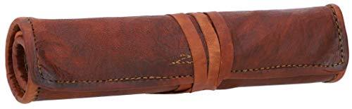 Gusti E-Zigaretten-Tasche Leder - Tony Dampfertasche Federmappe Federtasche Braun Leder