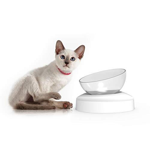 PETCUTE Katzennapf fressnapf Katze Doppel Fressnapf mit erhöhtem Stand Katzennäpfe schüsseln für Katzen rutschfeste