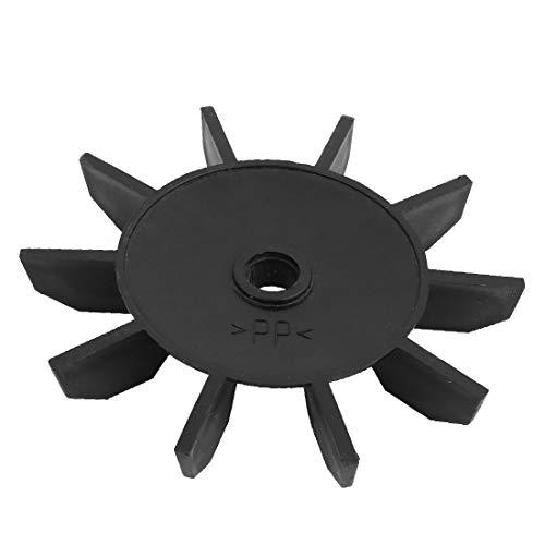 New Lon0167 135mm Diámetro Destacados 10 Vane Cilindro eficacia confiable doble Compresor de aire Ventilador de repuesto Plástico Negro(id:c8b dc d2 e6a)