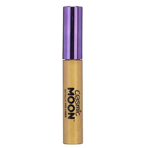 Cosmic Moon - Delineador de Ojos - 10ml - Para cautivar con los mejores estilos de ojos metálicos - Dorado