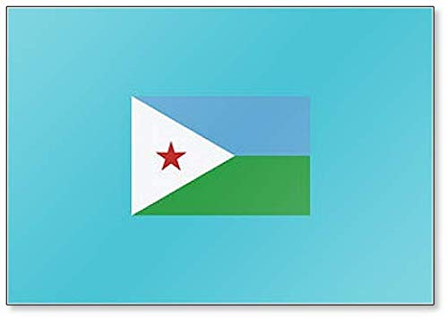 Kühlschrankmagnet Dschibuti Flagge