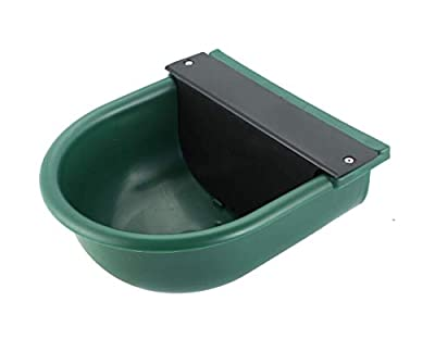 NATGAI Green Color Automatic Nylon Waterer Bowl with Float Valve and Drainage Hole Water Trough Farm Grade for Horse Cattle Goat Sheep Dog from NATGAI