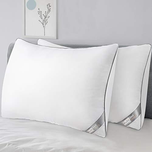 BedStory cuscini per letto matrimoniale 50x80, anti-acaro e antibatterico, imbottitura di alta qualità, adatto per dormire in tutte le posizioni
