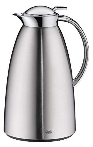 alfi Isolierkanne Gusto, Thermoskanne Edelstahl mattiert 1,5L, alfiDur Glaseinsatz, auslaufsicher, hält 12 Stunden heiß, 3562.205.150 ideal als Kaffeekanne oder als Teekanne, Kanne für 10 Tassen