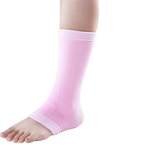 HSJ WDX- Los esguinces de Tobillo Deportes Calentar Fijos Calcetines de Baloncesto Cubierta del Tobillo Anti-Squat Pies de Verano Fina Juntas Protege los Tobillos (Color : Pink, Size : 25-26cm)